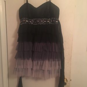 Black Ombré Homecoming dress!